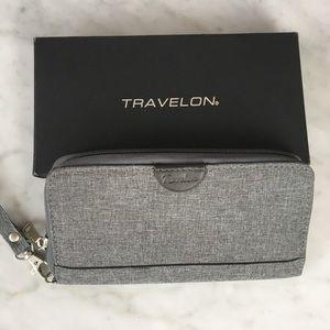 Travelon Bags - NWOT Travelon Gray RFID travel Wallet Wristlet